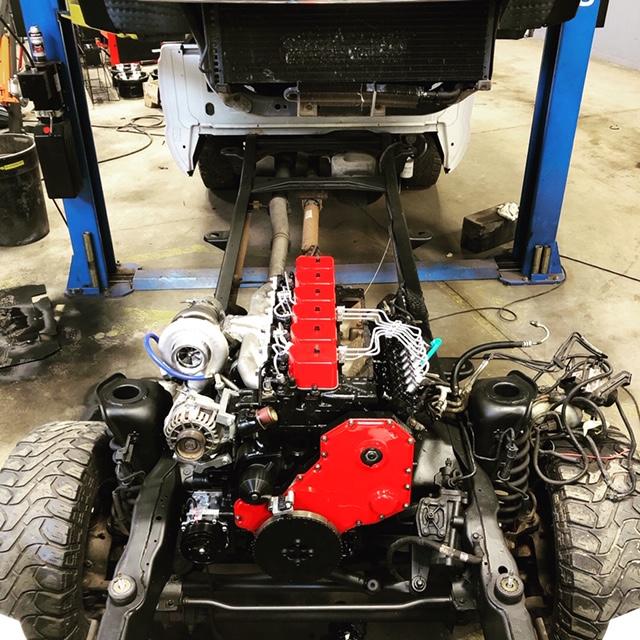 Engine on Frame